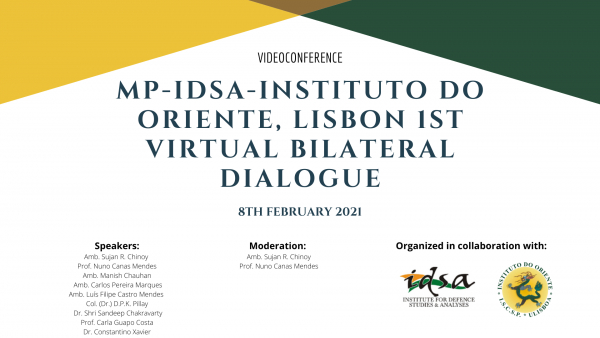 MP-IDSA-Orient Institute, Lisbon 1st Virtual Bilateral Dialogue